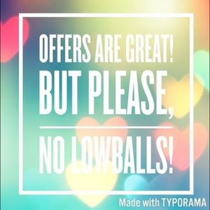 Other - No low ball offers will be accepted